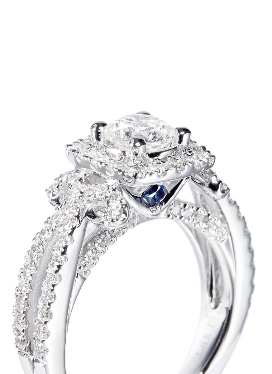 Vera Wang Love Ribbons And Bows Diamond And White Gold