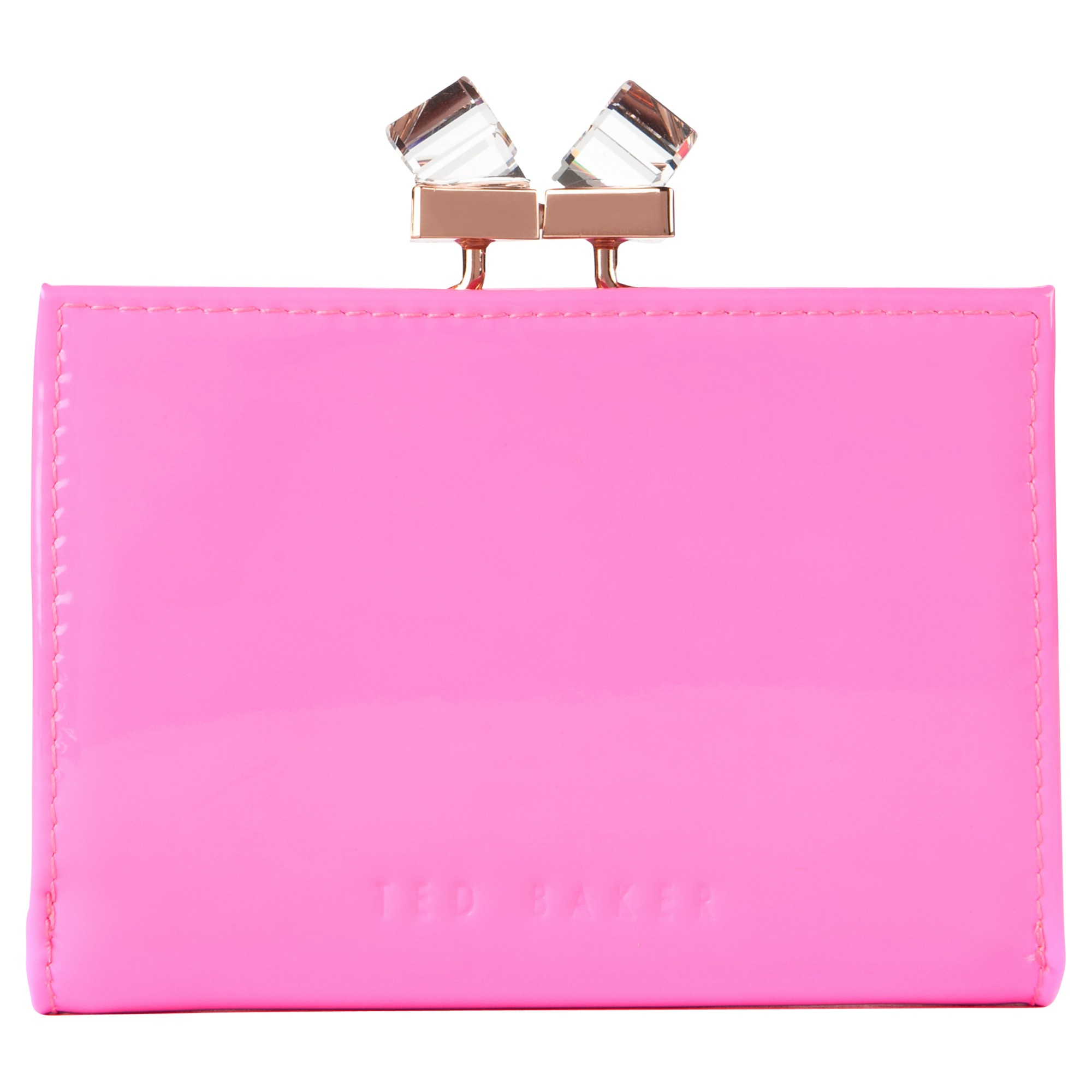 853456d9c7bcb0 Ted Baker Tanago Patent Leather Crystal Matinee Purse in Pink - Lyst