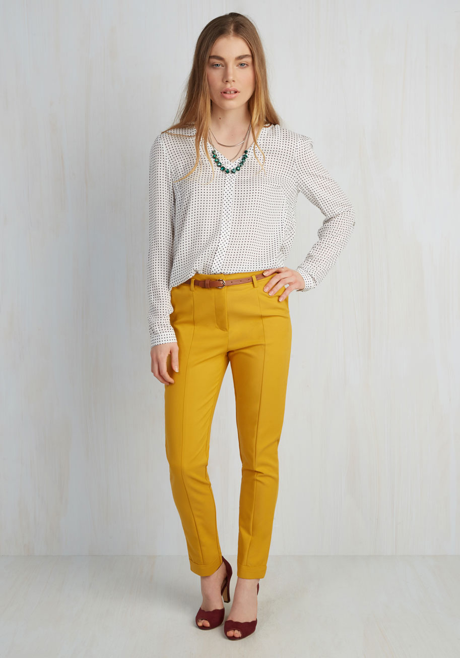 Brilliant 22 Luxury Mustard Pants Women U2013 Playzoa.com