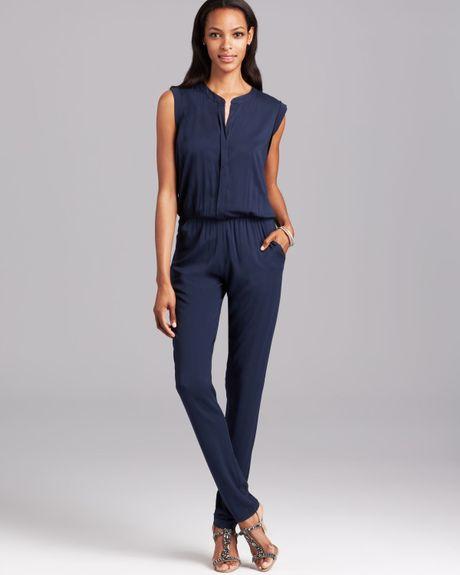 Original Navy Blue Jumpsuit Wide Leg Jumpsuit For Women By KSclothing