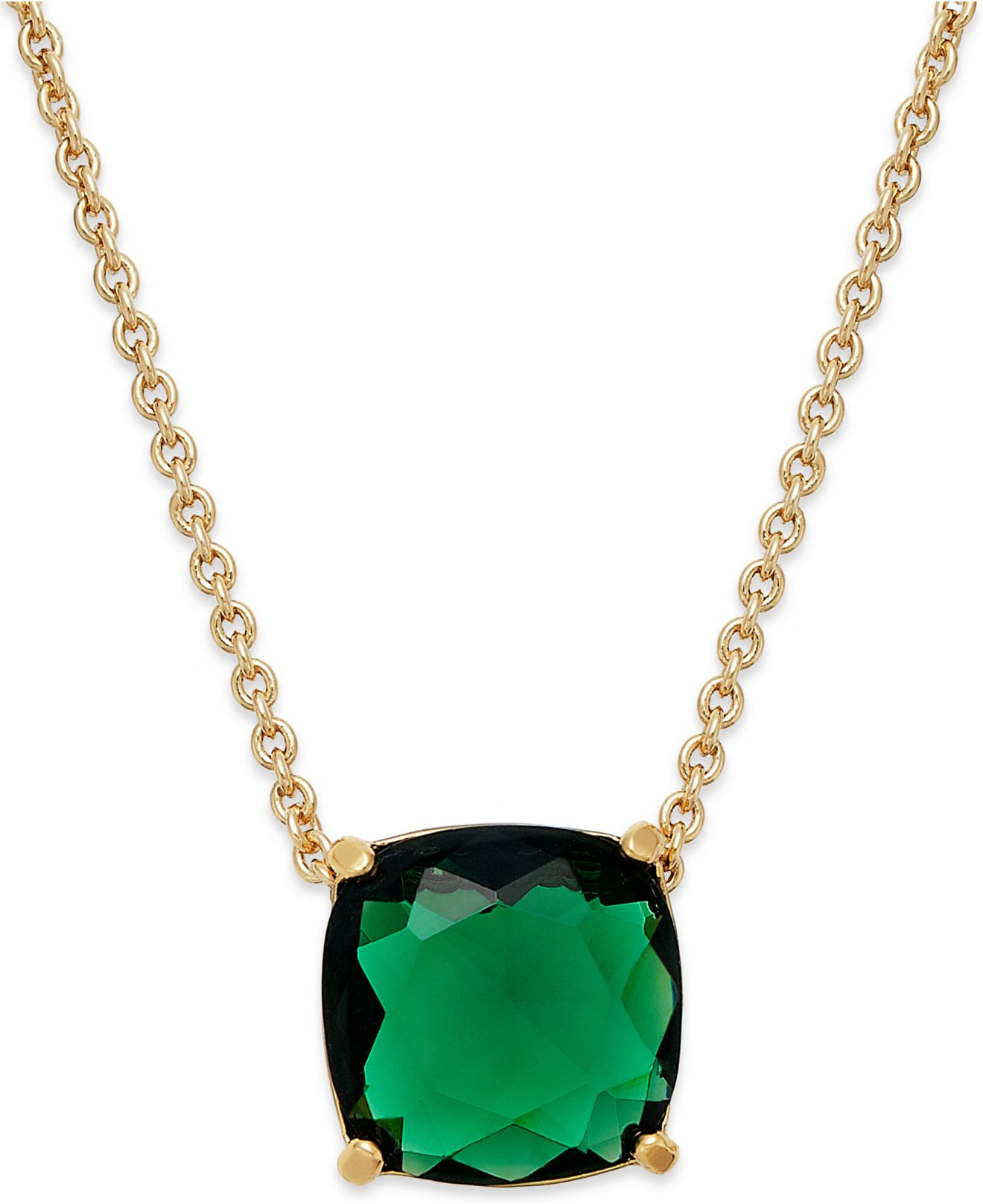 kate spade new york gold tone mini stone pendant necklace. Black Bedroom Furniture Sets. Home Design Ideas