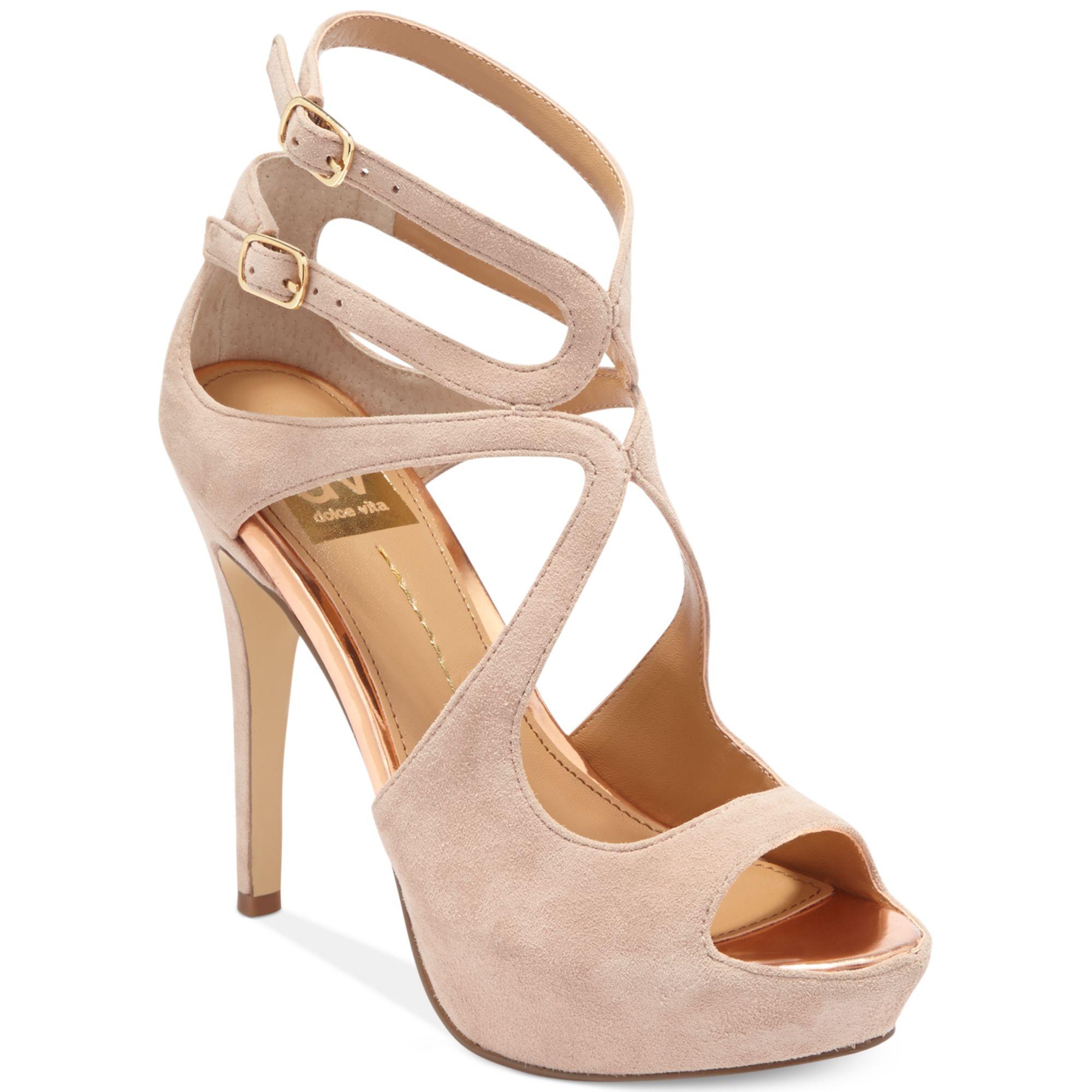 dolce vita dv by brielle platform sandals in pink blush