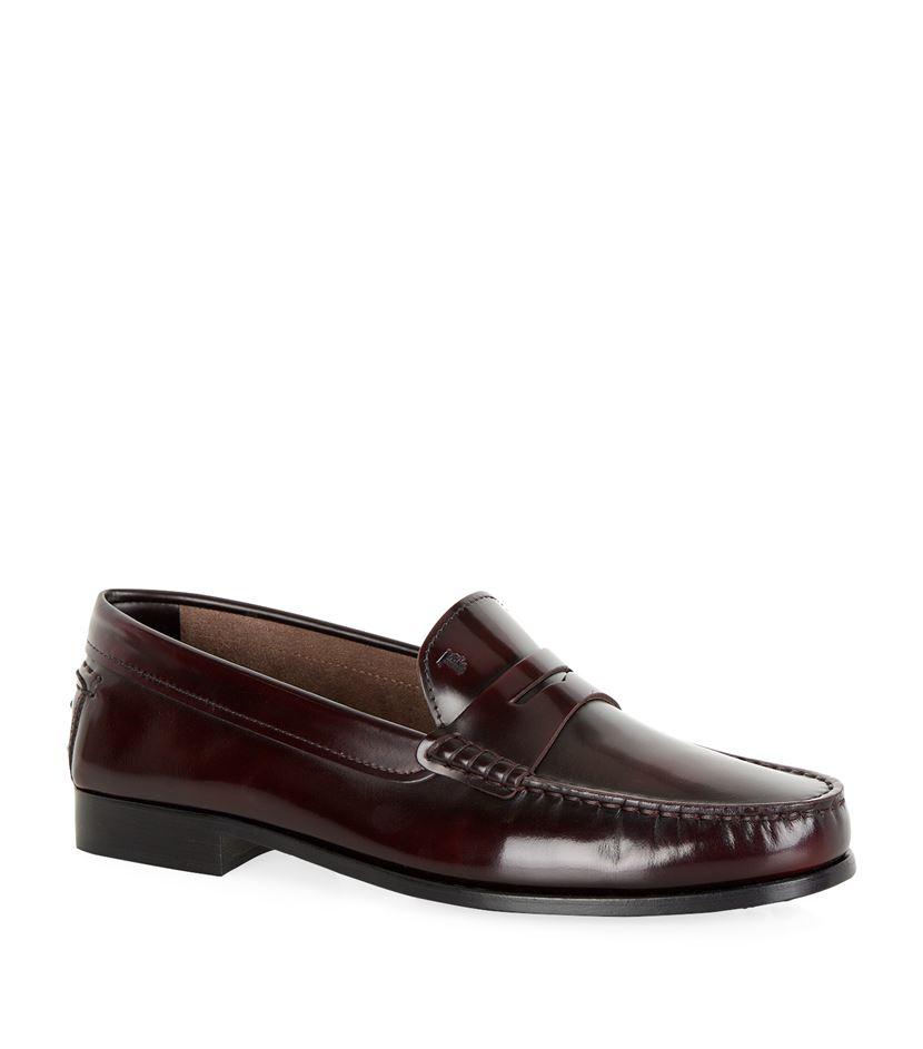 Tod's Leather Penny Loafer in Purple | Lyst