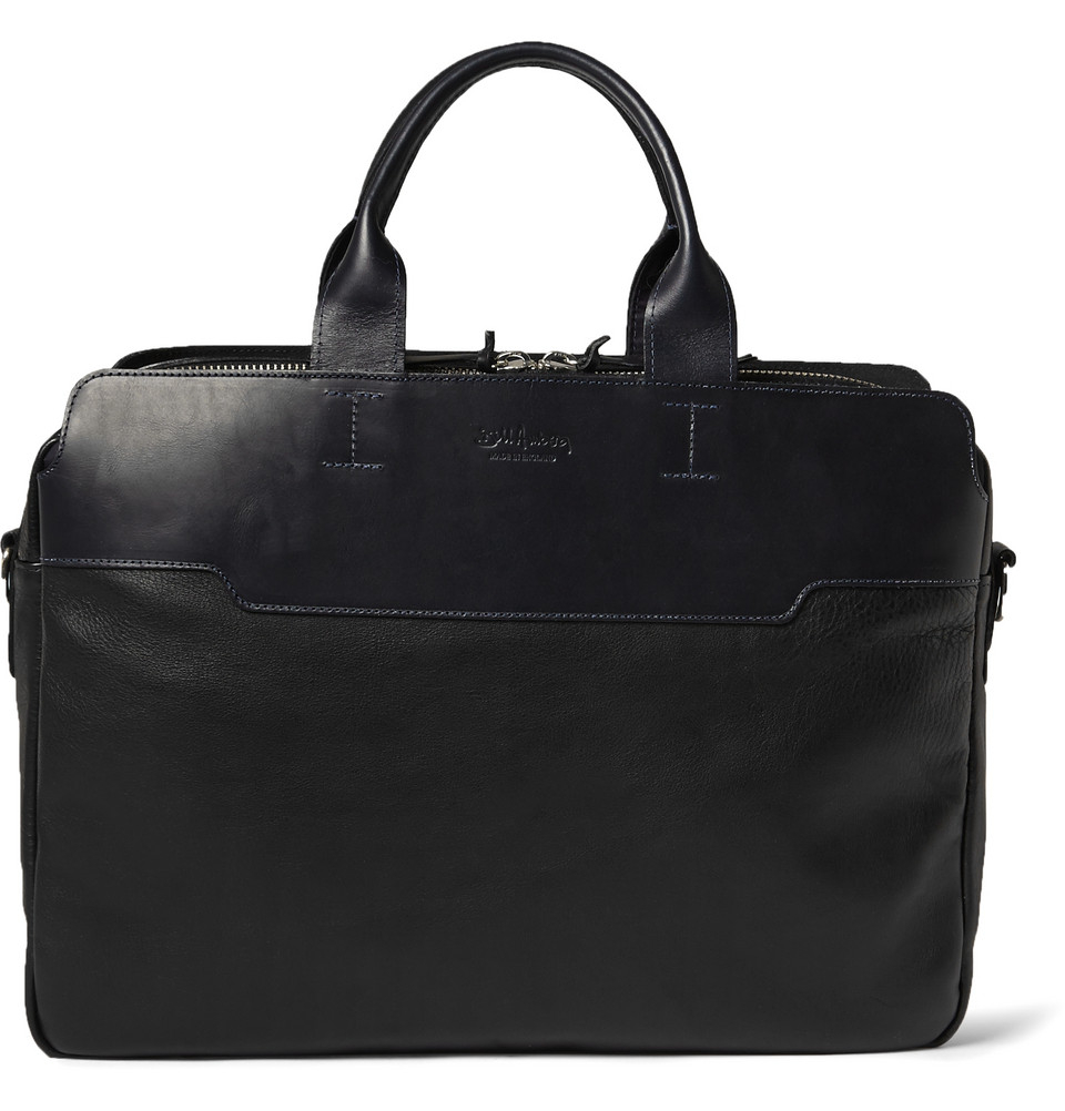 Bill Amberg Explorer Leather Briefcase In Black For Men Lyst