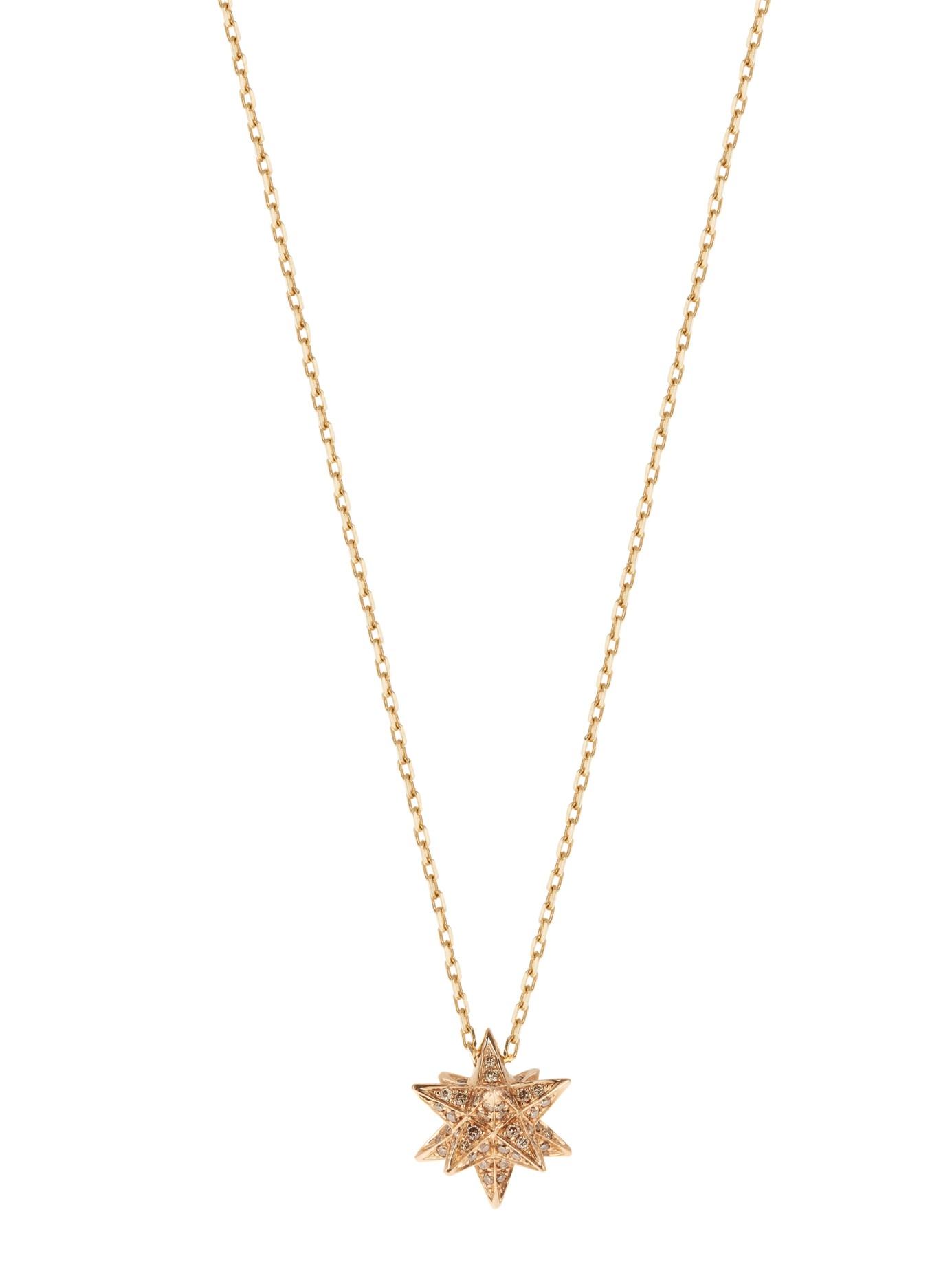 noor fares merkaba gold necklace in