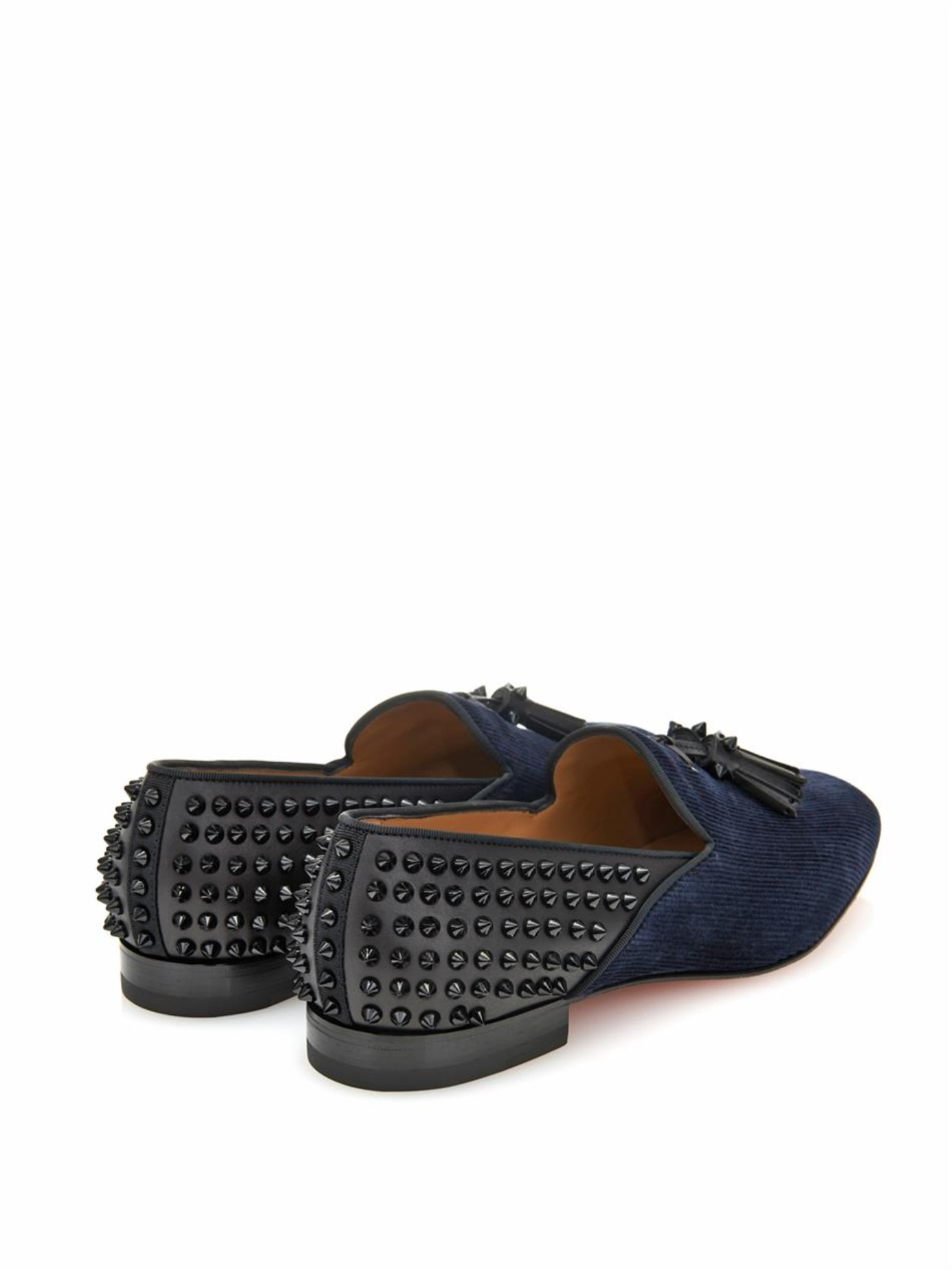 louis vuitton replica mens shoes - Christian louboutin Tassilo Studded Loafers in Blue for Men (NAVY ...