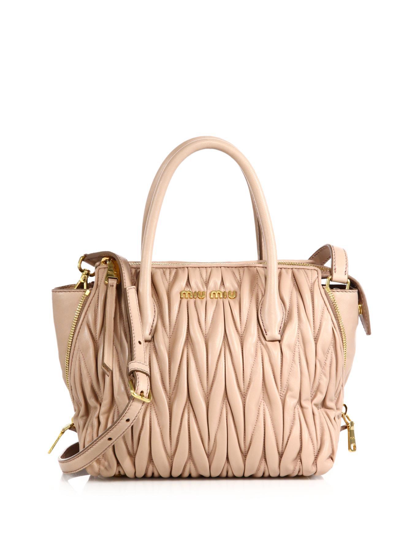 miu miu leather matelasse satchel bag discount miu miu handbags. Black Bedroom Furniture Sets. Home Design Ideas