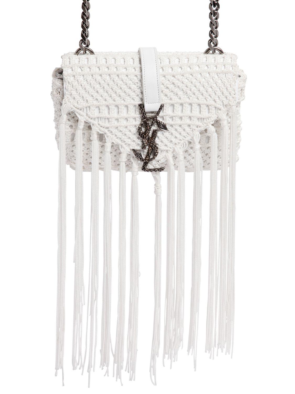 Monogram Baby Chain Serpent Crochet Crossbody Bag Black