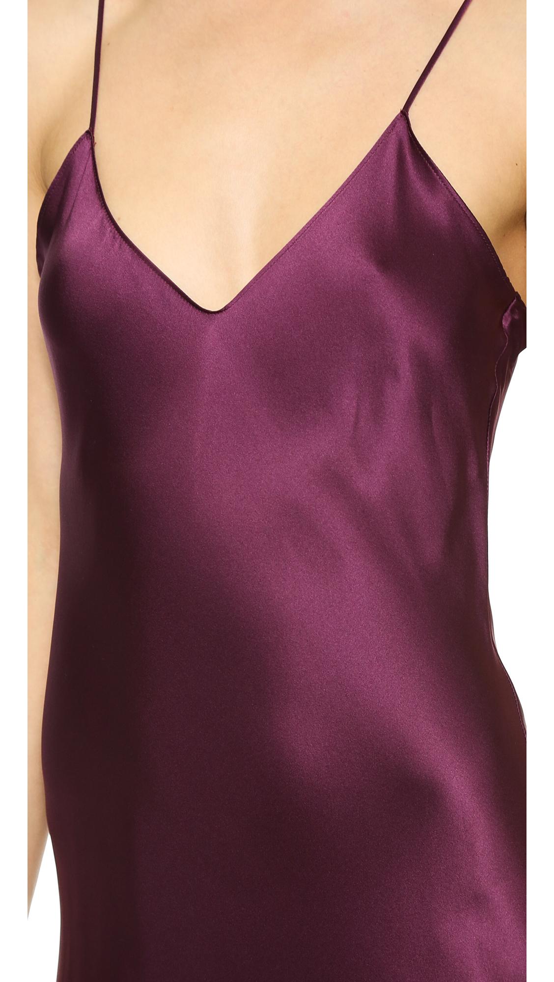 Lyst Nili Lotan Maxi Cami Dress Muscat In Purple