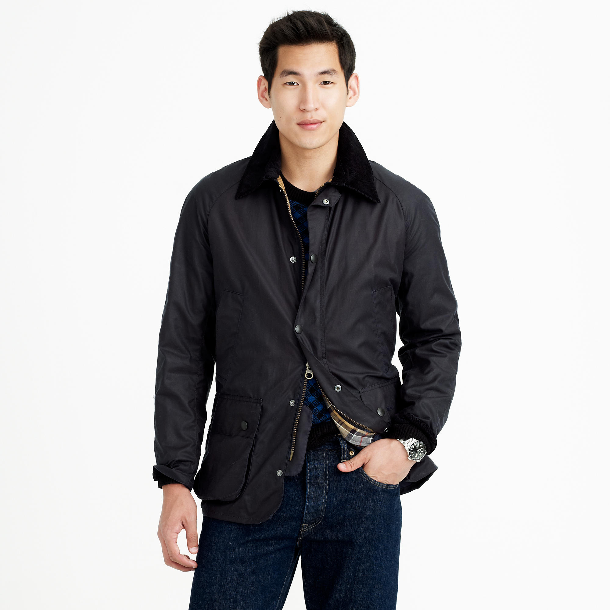 Barbour sylkoil ashby jacket in blue for men navy lyst for The ashby