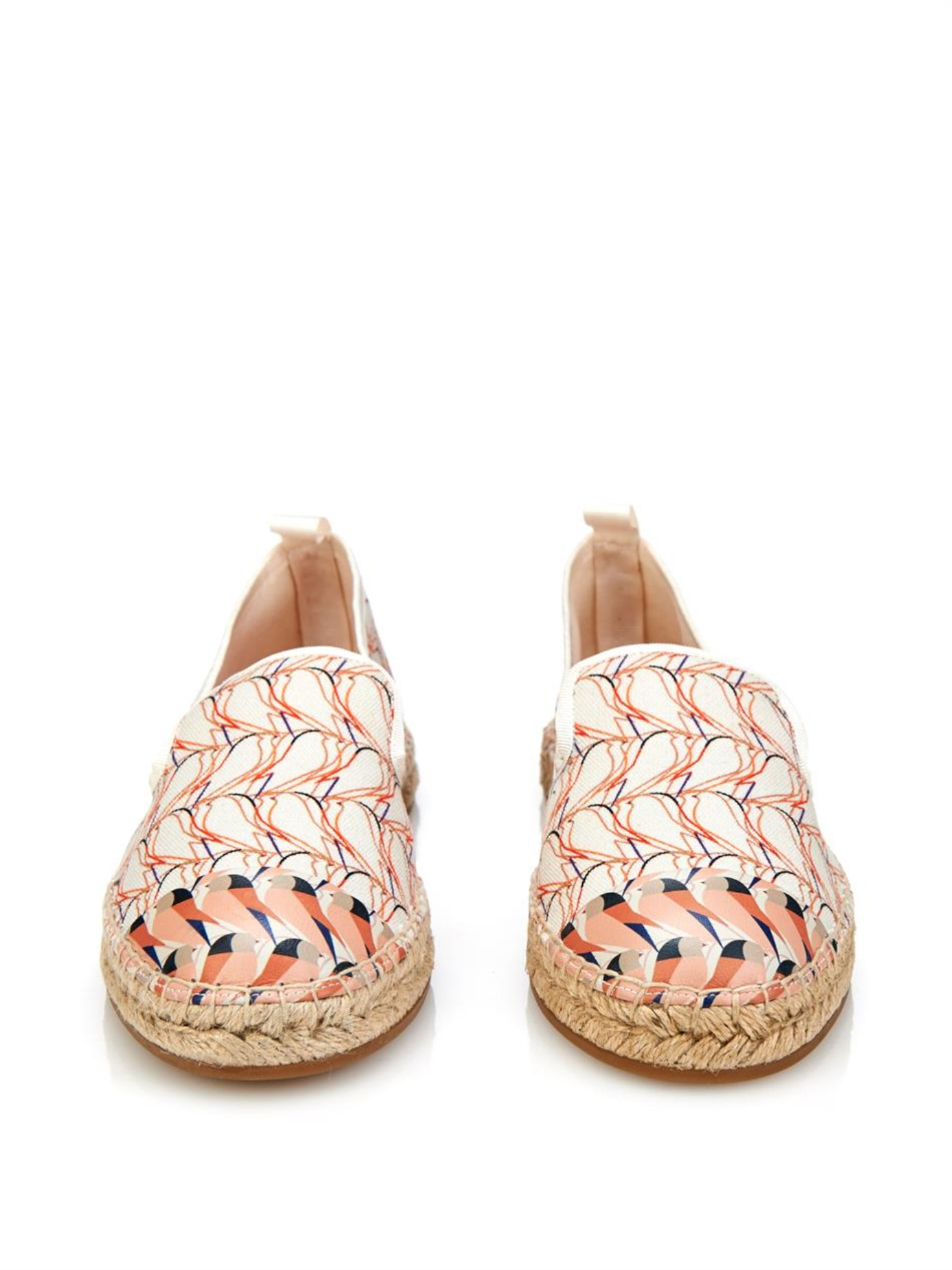 Fendi Printed Leather Espadrilles outlet best store to get free shipping original find great sale online free shipping 100% authentic 5LSxPWW