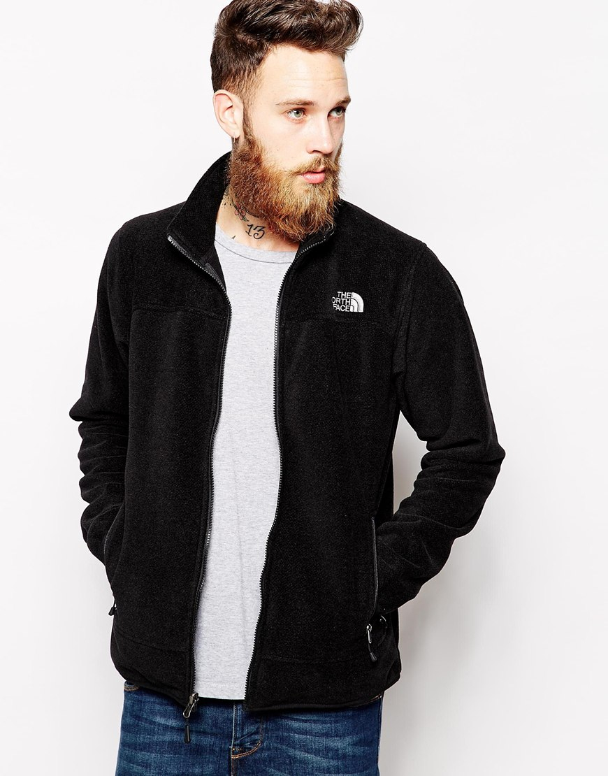 The North Face Fleece Jacket In Black For Men Lyst