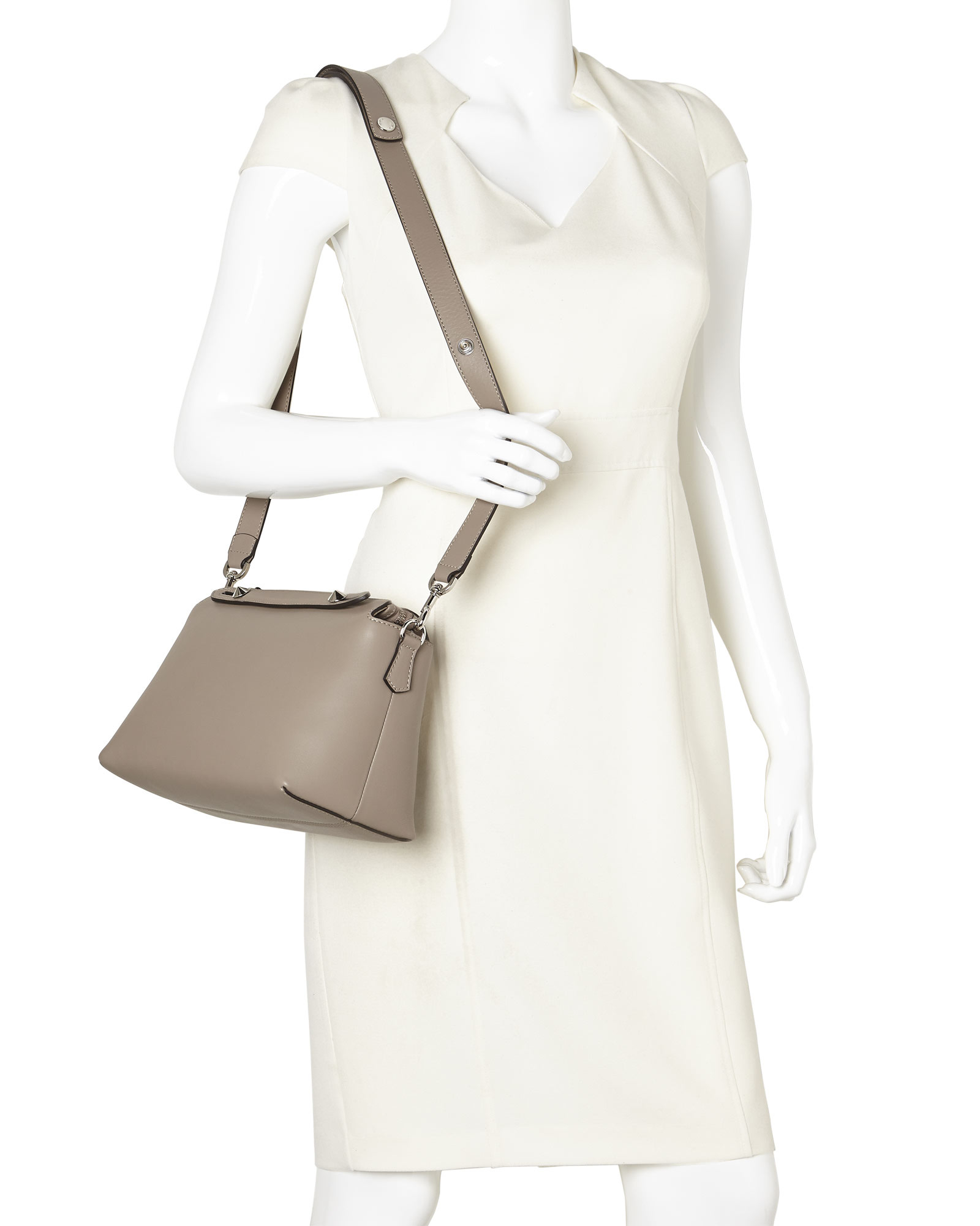 009659abbdba Lyst - Fendi Taupe By The Way Small Satchel in Natural