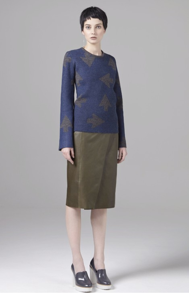 Use unused Anett Olive Green Leather Skirt in Brown   Lyst