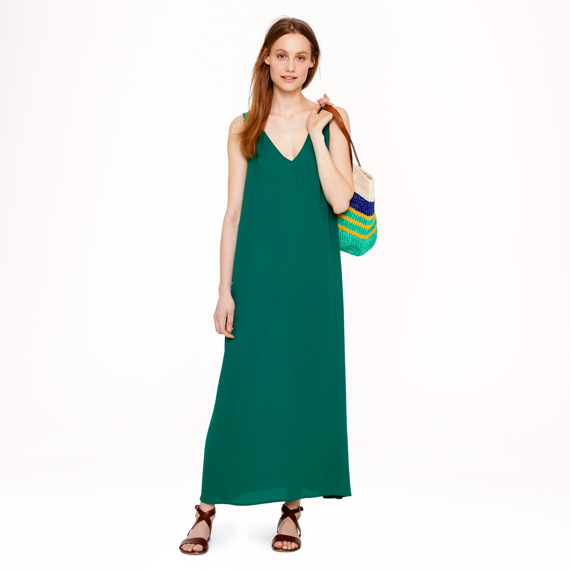 maxi dress on short person 1974