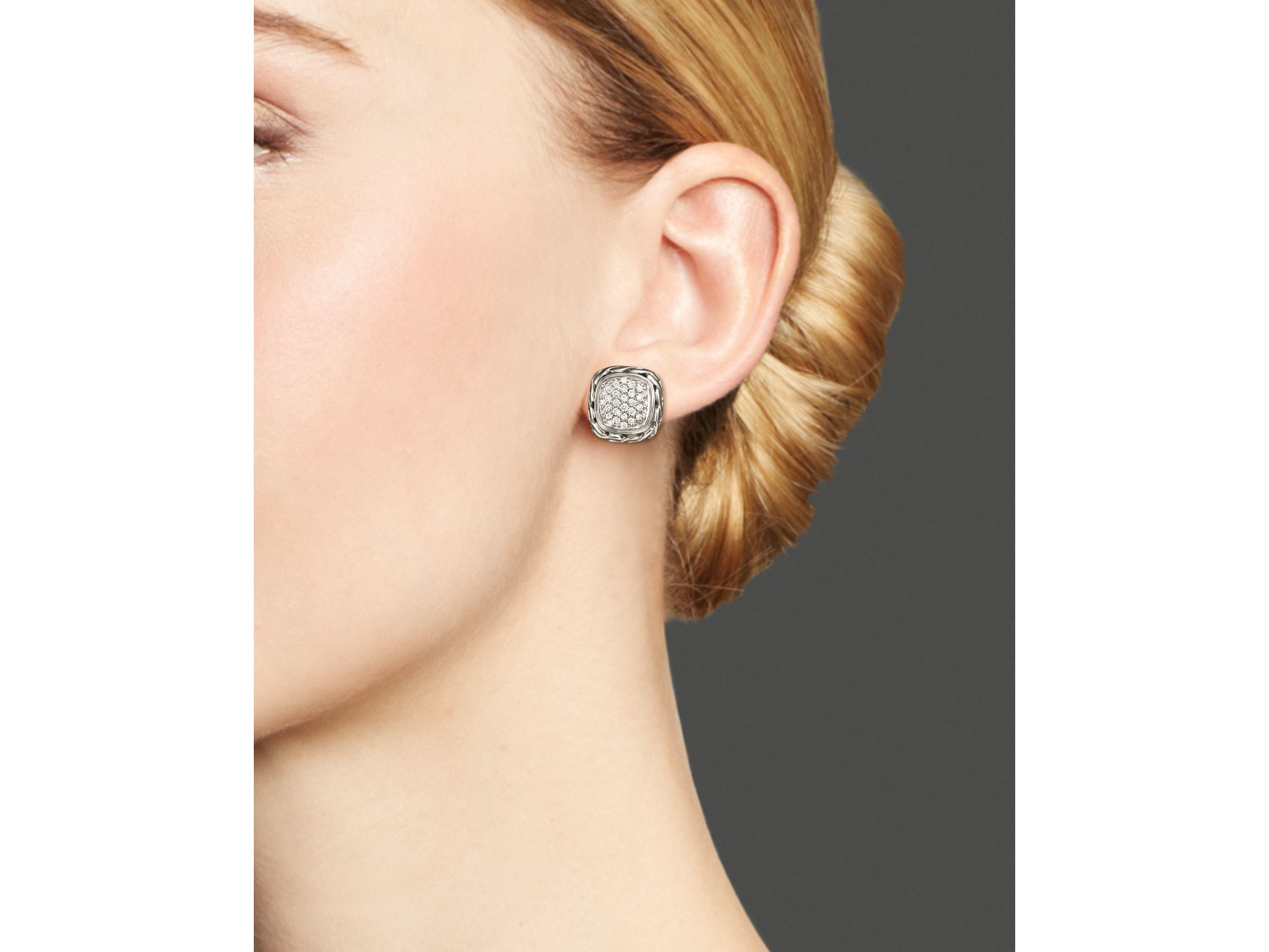 John Hardy Classic Chain Square Earrings otzXYV
