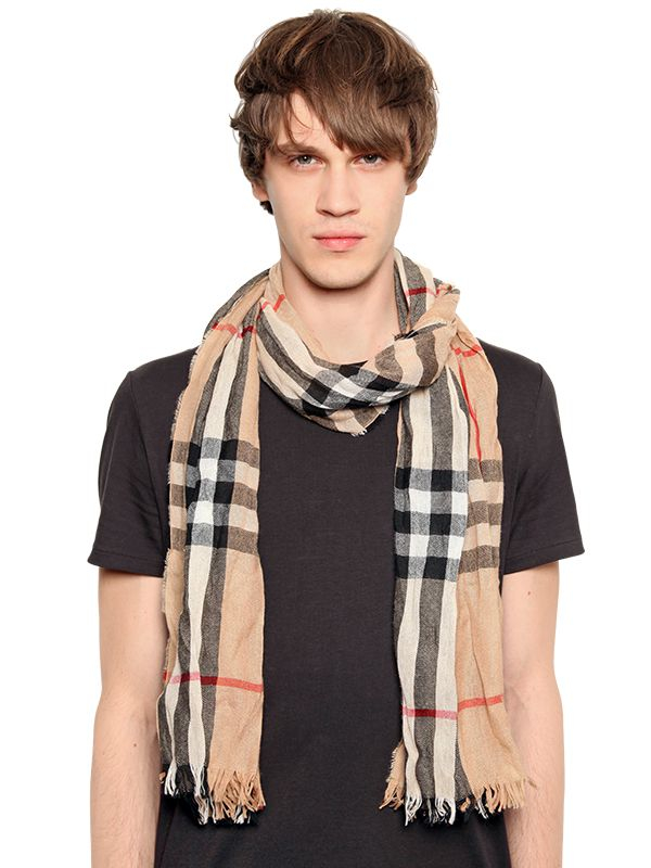 6938b2bdb838 Burberry Wrinkled Classic Check Printed Scarf in Brown for Men - Lyst