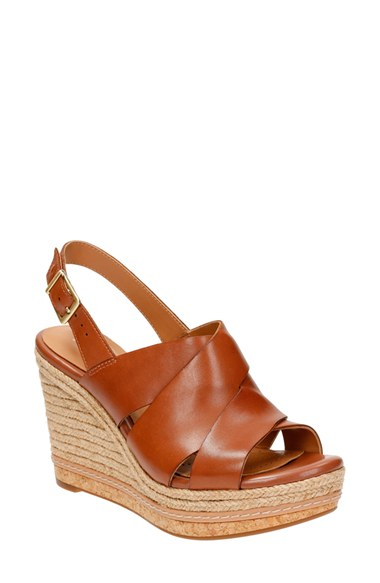 2839ae395471 Lyst - Clarks Amelia Daily Wedge Sandals in Brown