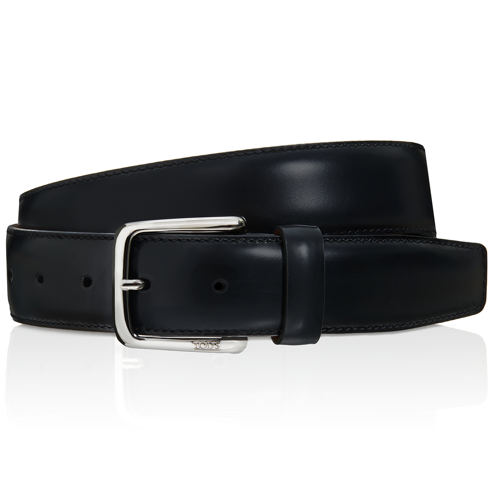 tod s leather belt in black for lyst