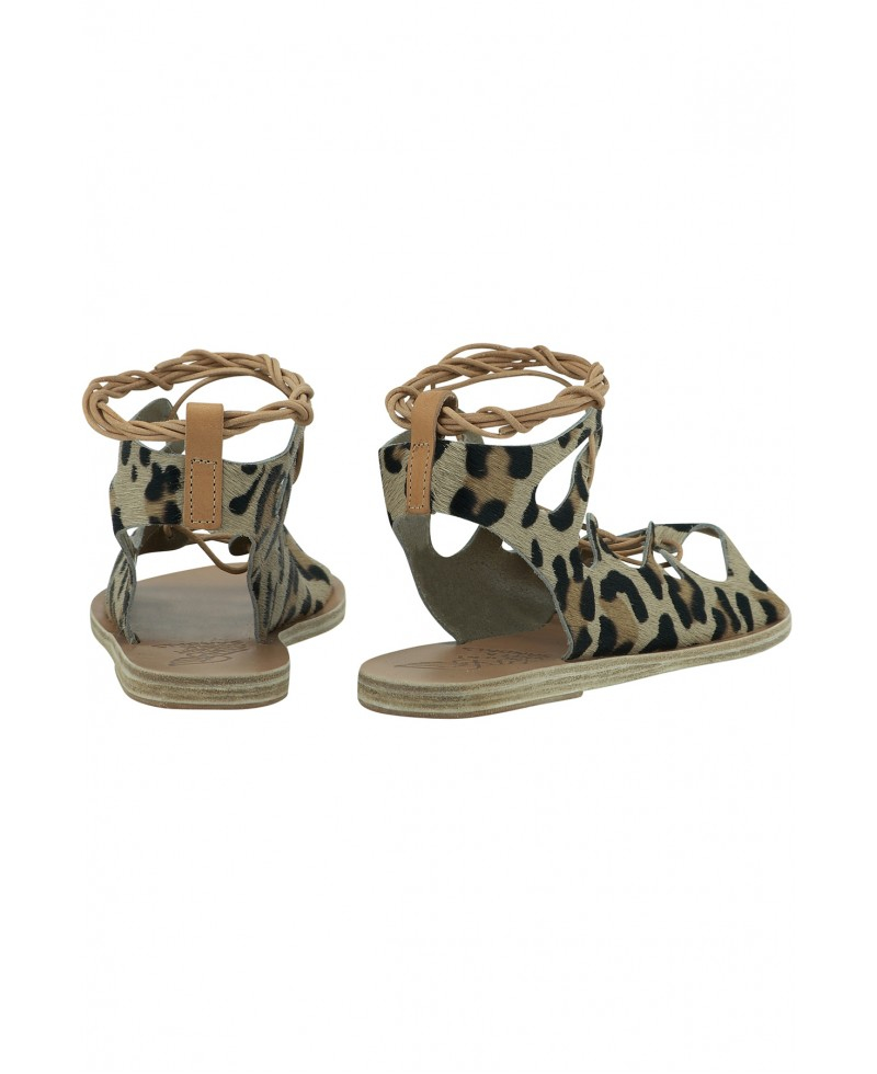 Ancient Greek Sandals Antigone Sandal In Leopard Lyst