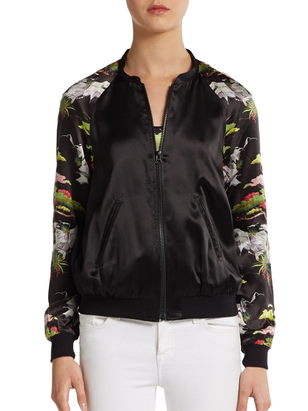 Silk Baseball Jacket Jacketin