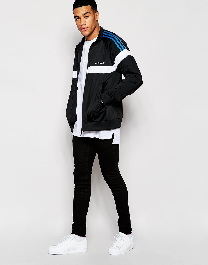 Lyst Adidas Originals Itasca Track Jacket Aj6946 In Black For Men