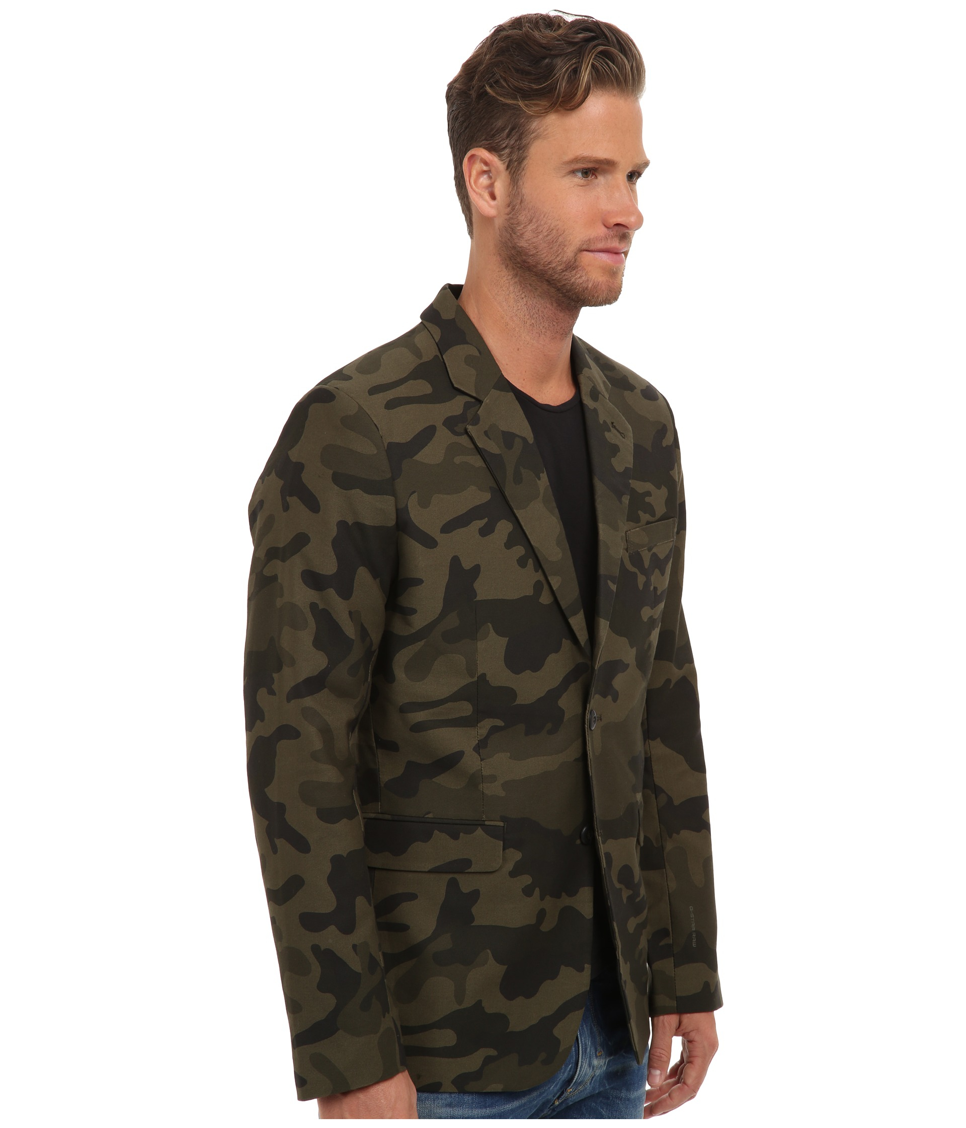 2fcd43400f95d G-Star RAW Omega Camo Blazer in Green for Men - Lyst