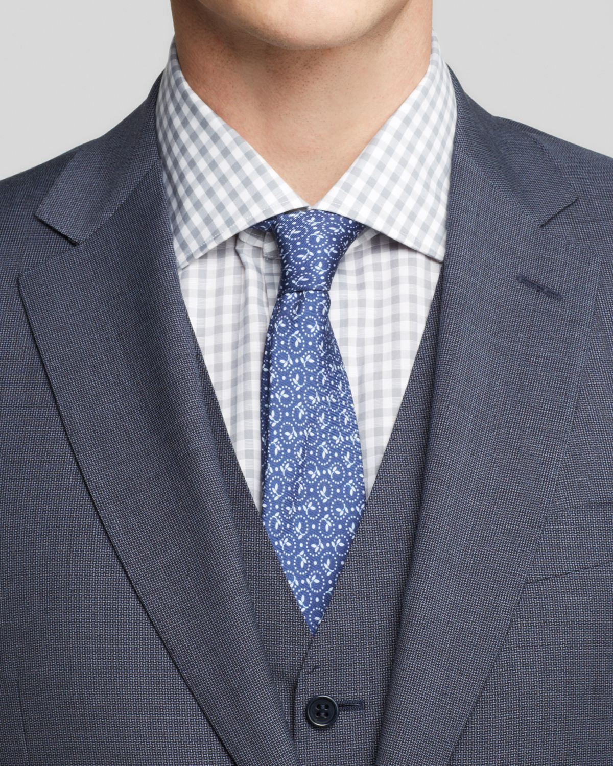 Canali Basket Weave Three-Piece Suit - Classic Fit ...