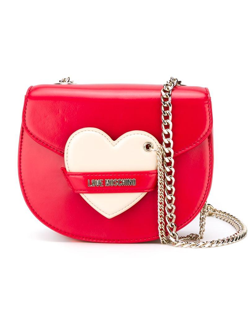 chain-detail crossbody bag - Red Love Moschino qvwV6nc