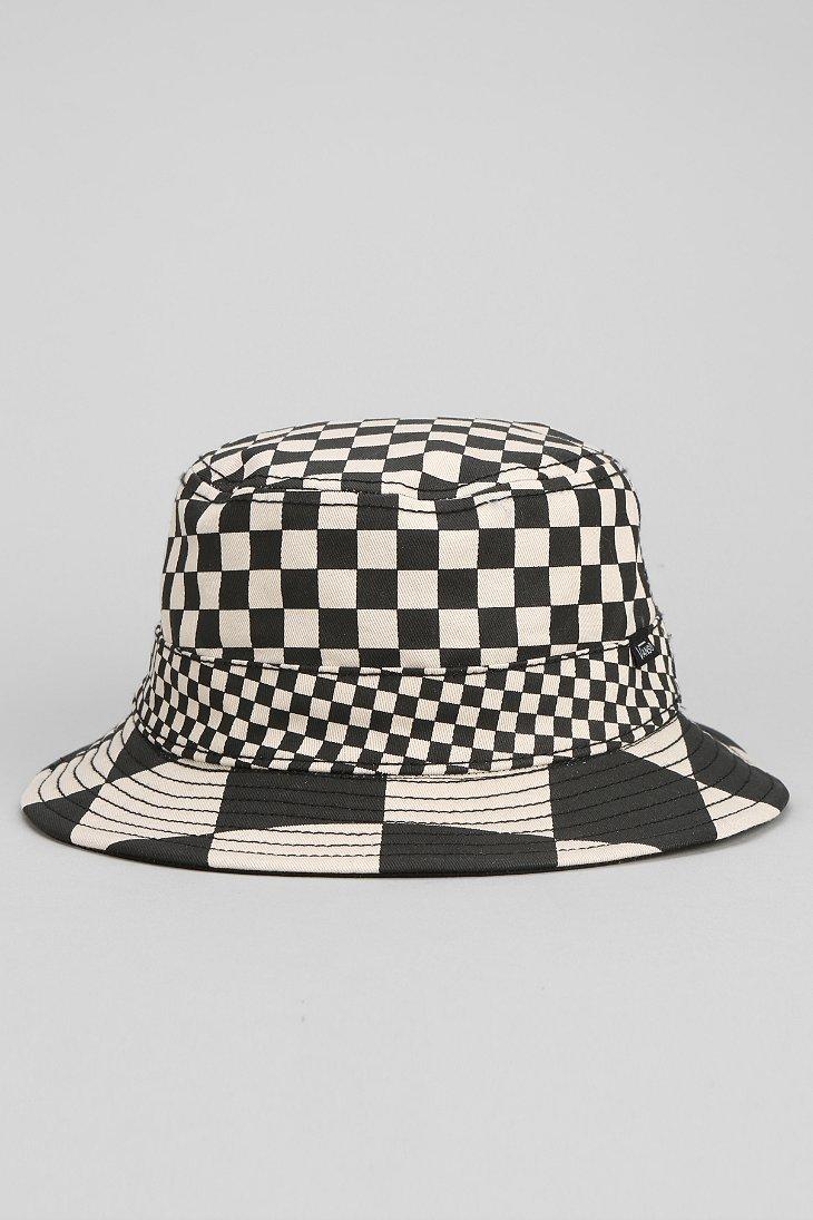 383dbef29f4f6 Vans Checker Reversible Bucket Hat in Black for Men - Lyst