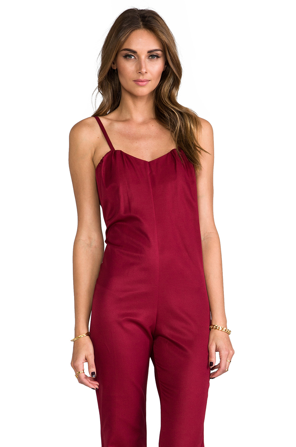 3b57a449076 Lyst - Stone Cold Fox Jerry Jumpsuit in Red in Red