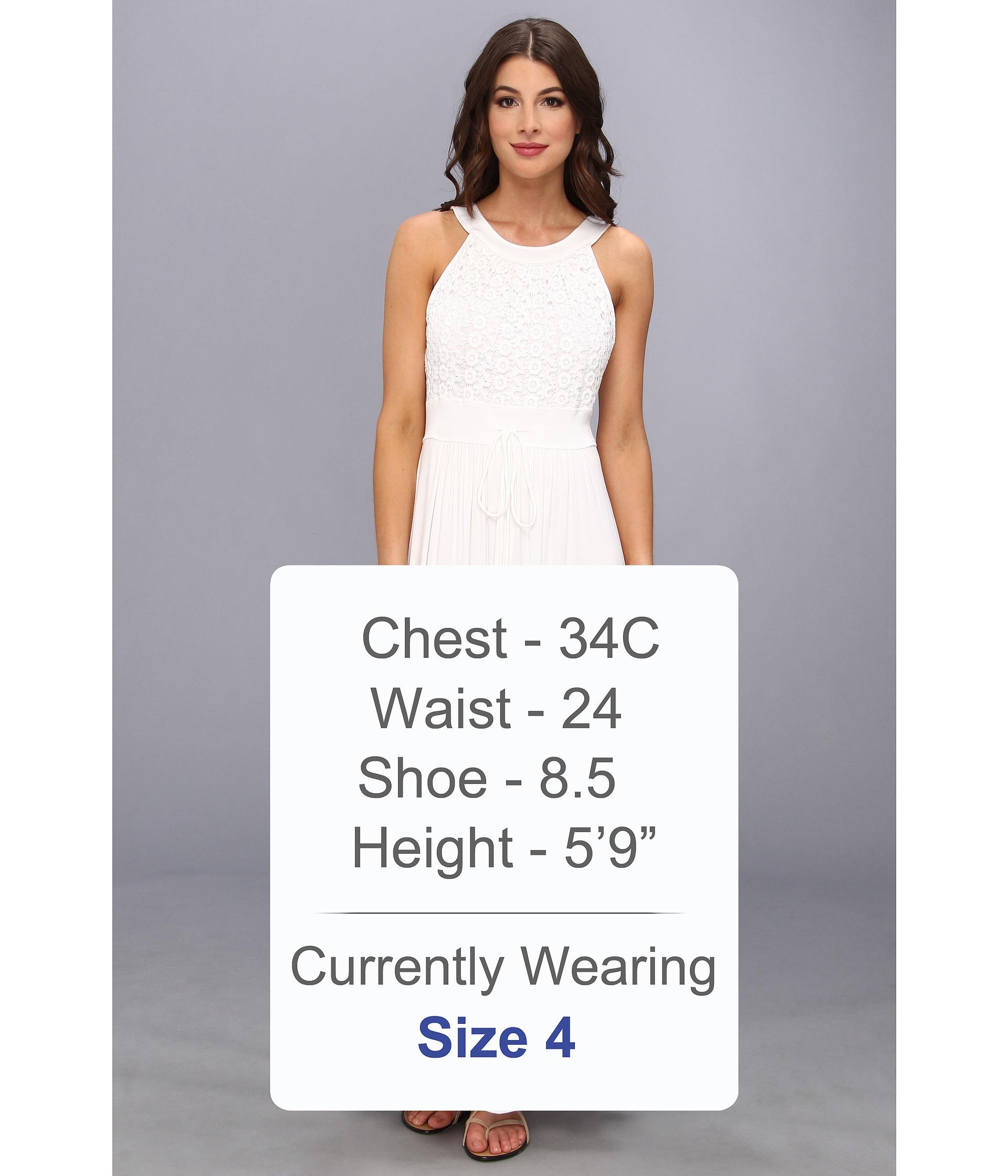 Calvin klein crochet bodice jersey maxi dress