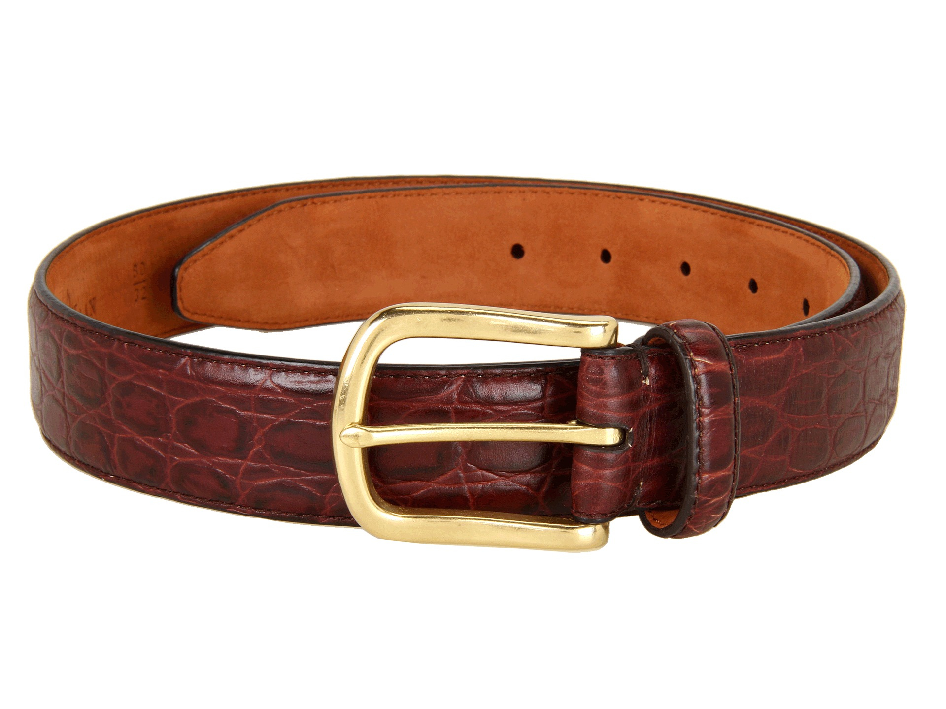 47744dafed4 Lyst - Cole Haan Croc Embossed Belt in Red for Men