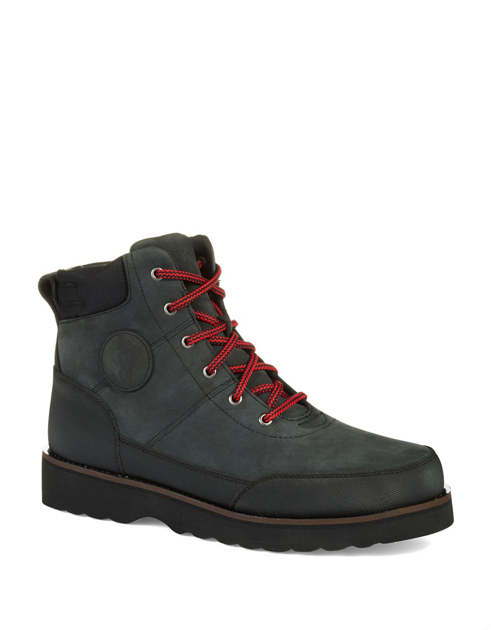 polo ralph bearsted boots in black for lyst