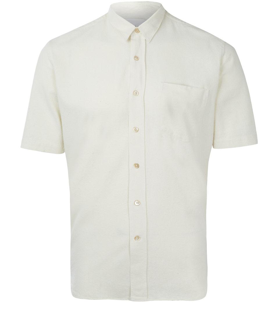 Lyst our legacy white slub silk short sleeve shirt in for Our legacy silk shirt