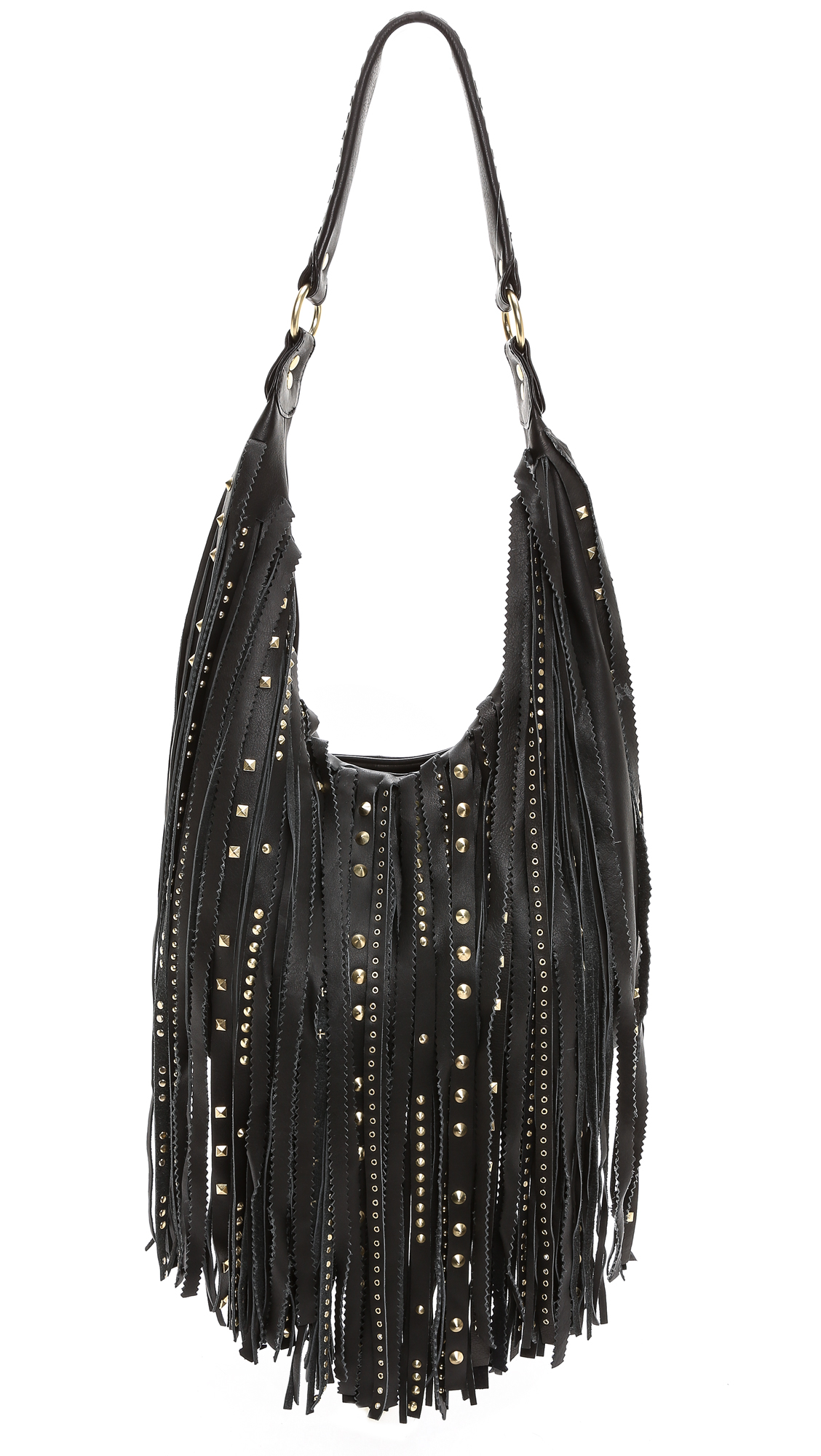 Ash Tyler Fringe Hobo Bag - Black in Black | Lyst