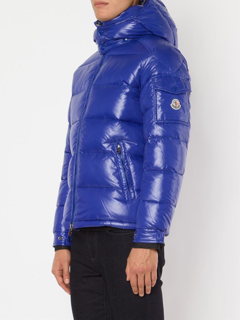 Moncler Maya Quilted Jacket In Blue For Men Lyst