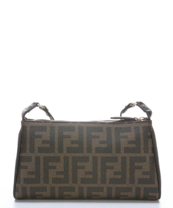f618747e47 ... bag be2ea df65d order lyst fendi tobacco leather trimmed zucca spalmati  small crossbody 84d30 39b65 ...