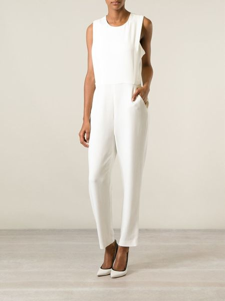 Theory White Jumpsuit