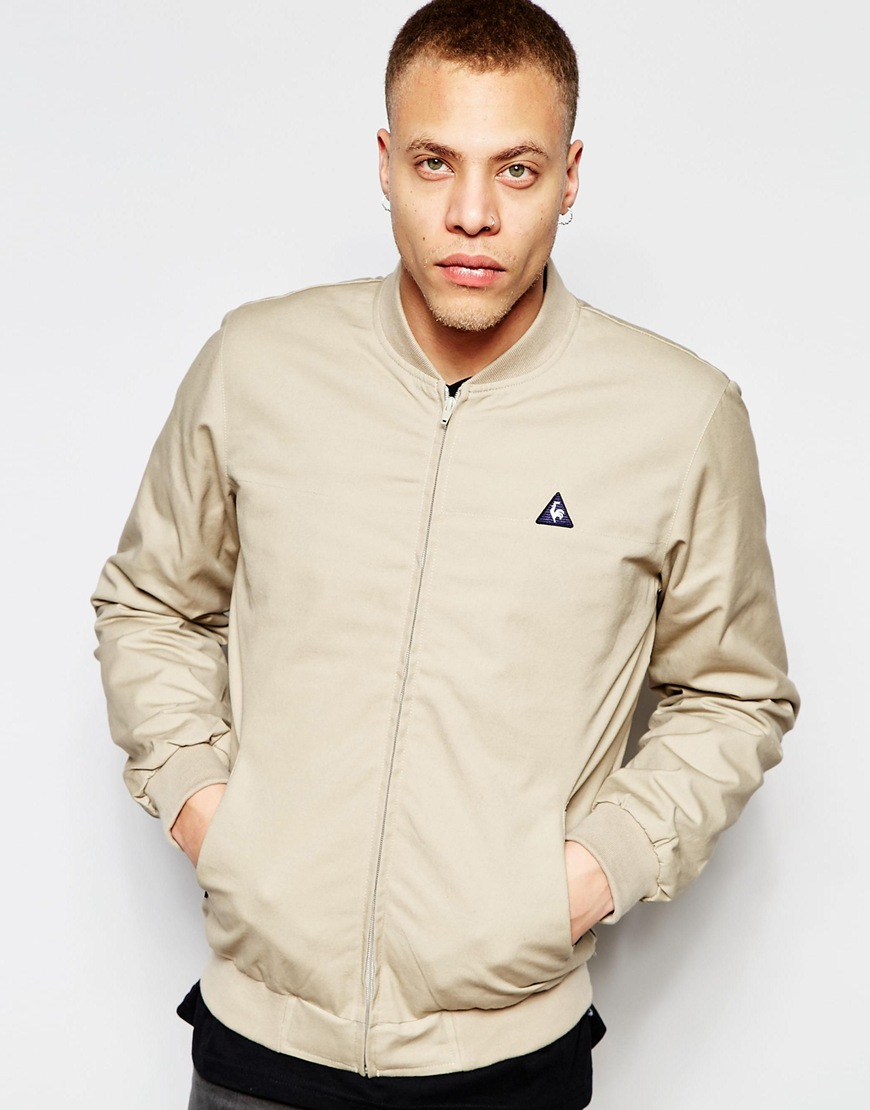 Le coq sportif Bomber Jacket Beige in Natural for Men | Lyst