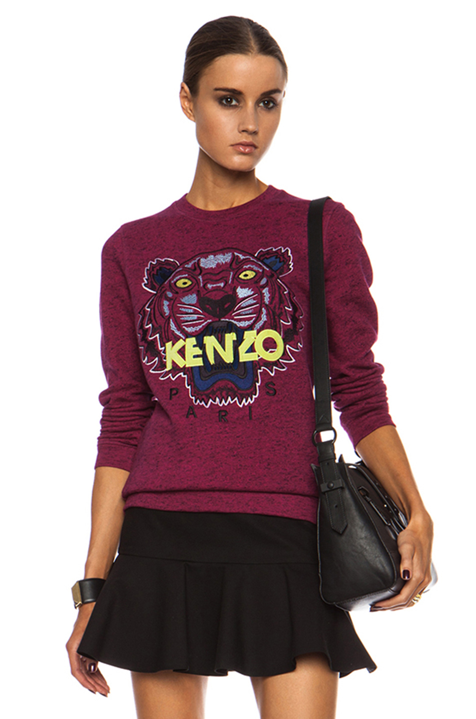 Lyst - KENZO Tiger Cotton Sweatshirt in Pink 42ab7bb7e170