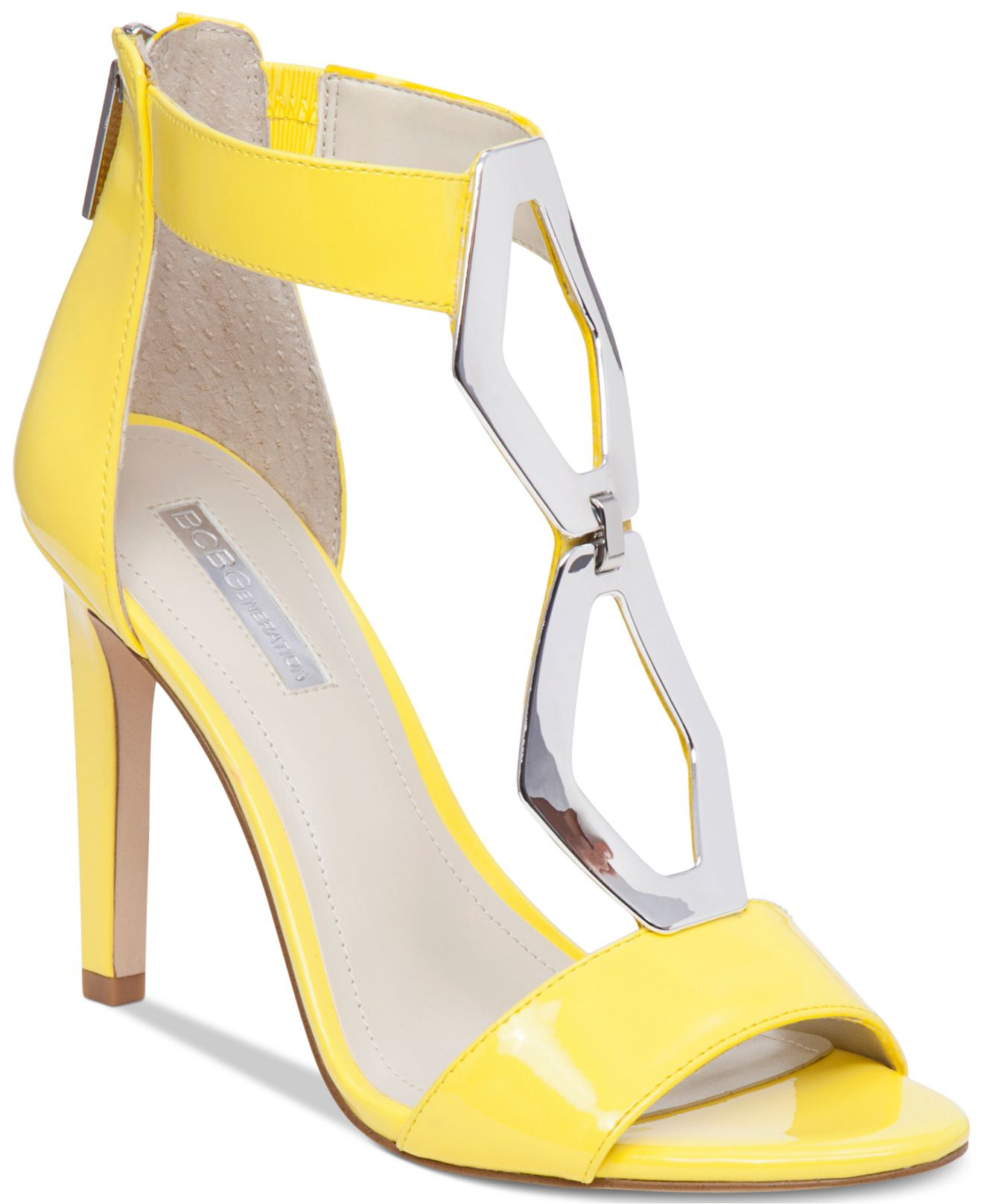 Bcbgeneration Cayce Hardware Ankle-strap Pumps in Yellow | Lyst