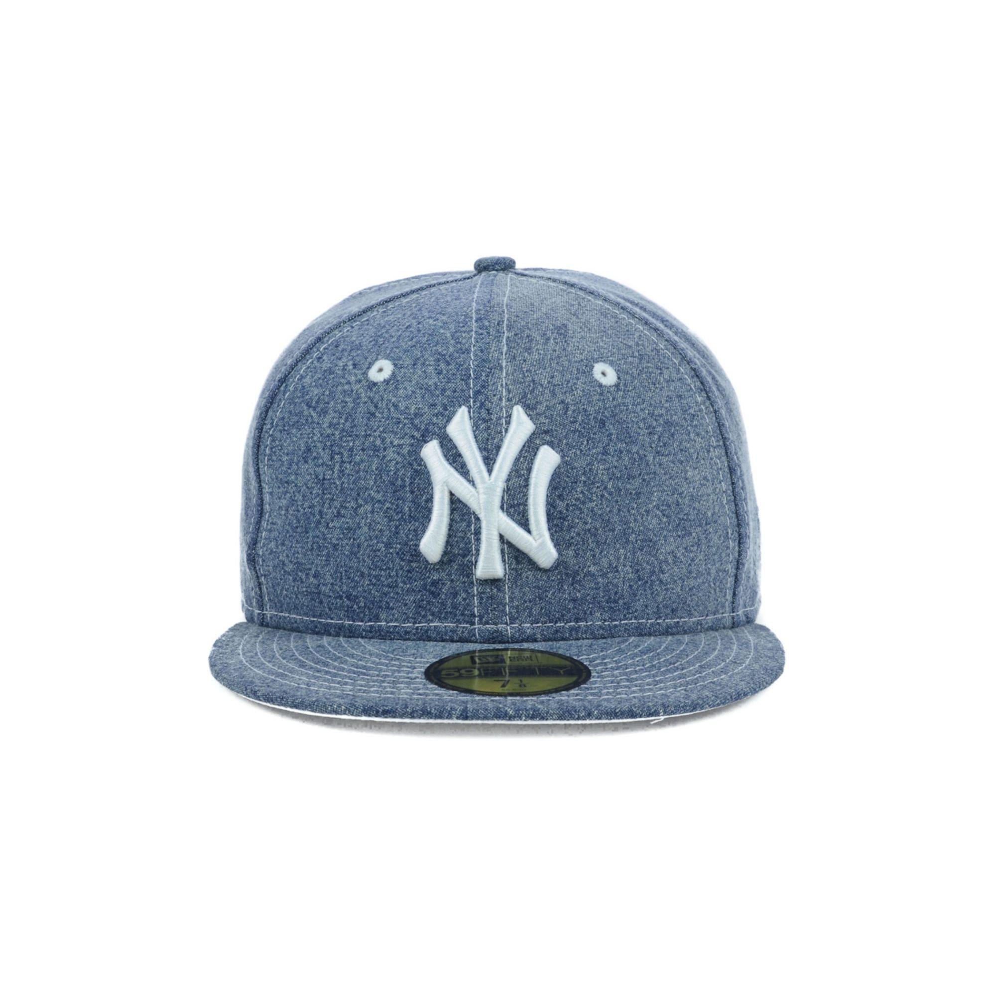 New Era New York Yankees Mlb Classic Denim 59fifty Cap In