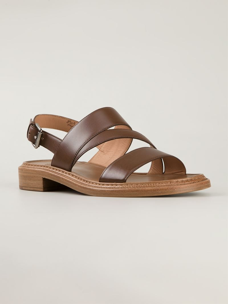 Lyst Church S Strappy Flat Sandals In Brown