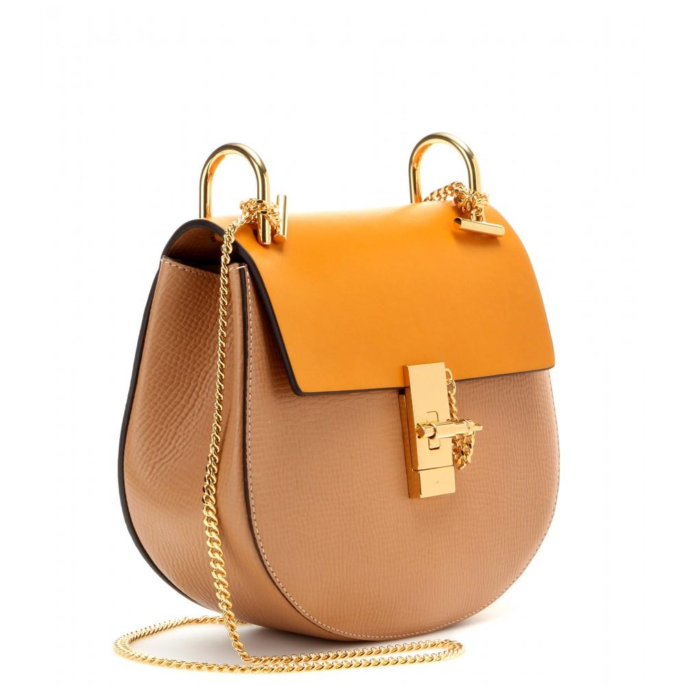 Chlo¨¦ Drew Leather Shoulder Bag in Orange (sand) | Lyst