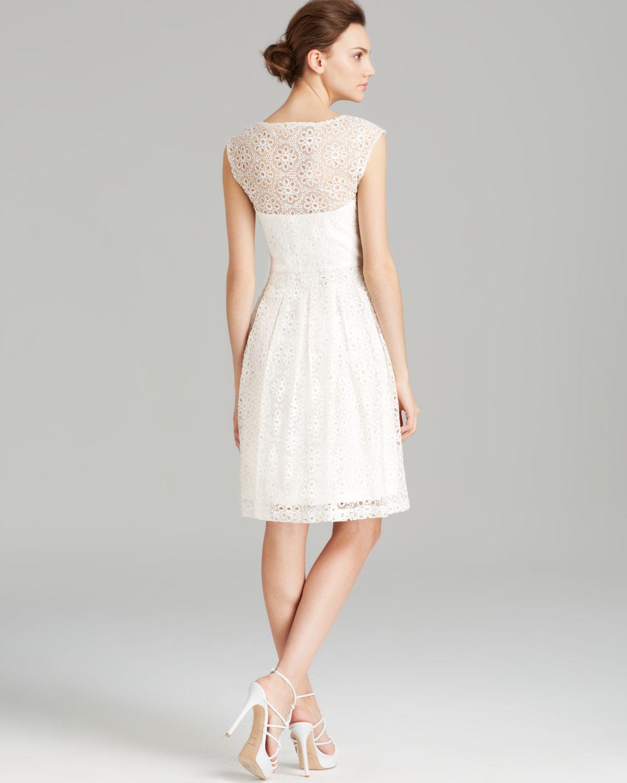 474ba85396 White Eyelet Dress With Sleeves - Women s Dresses