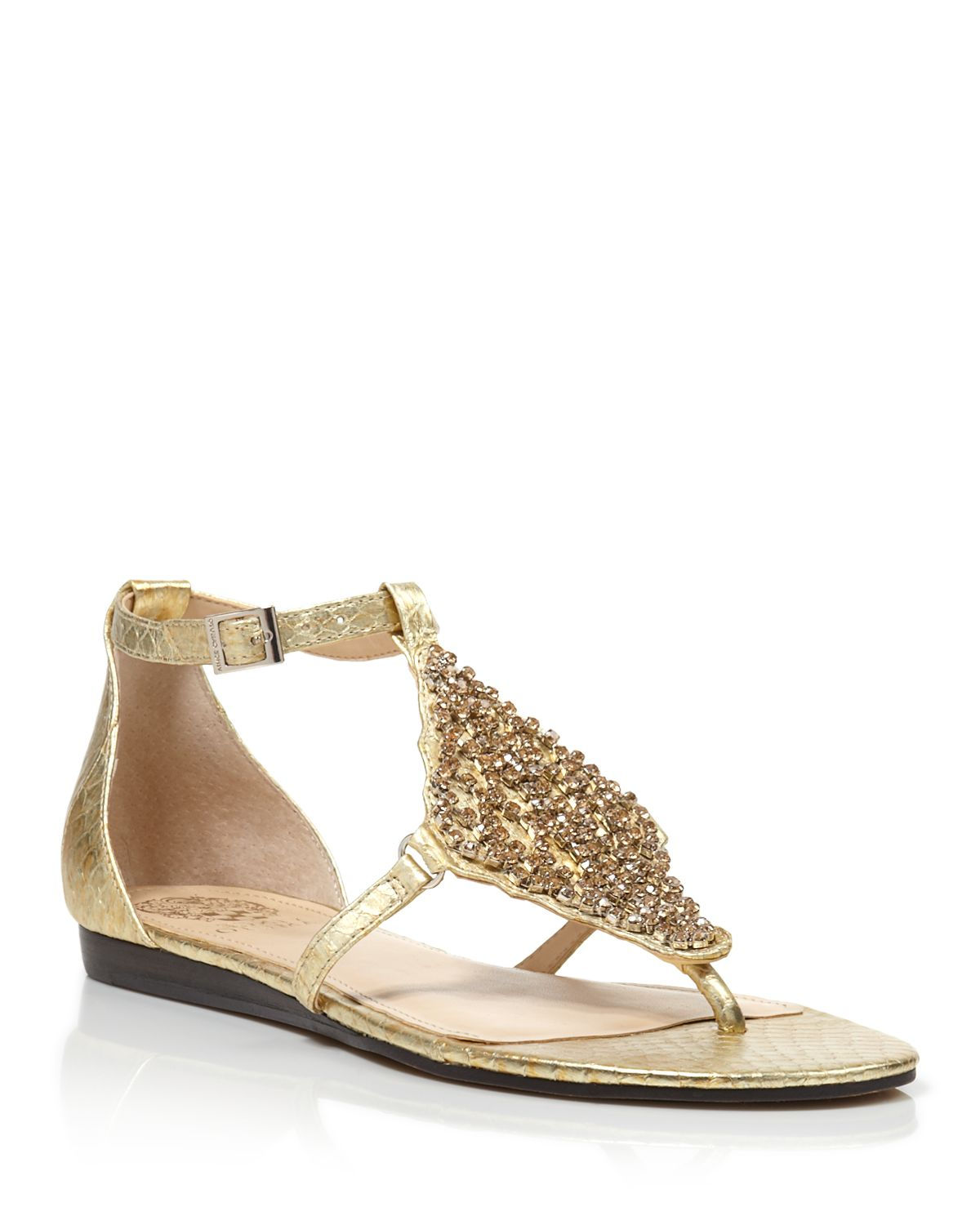 5b4682d3d Lyst - Vince Camuto Flat Thong Sandals - Valeen Jeweled ...