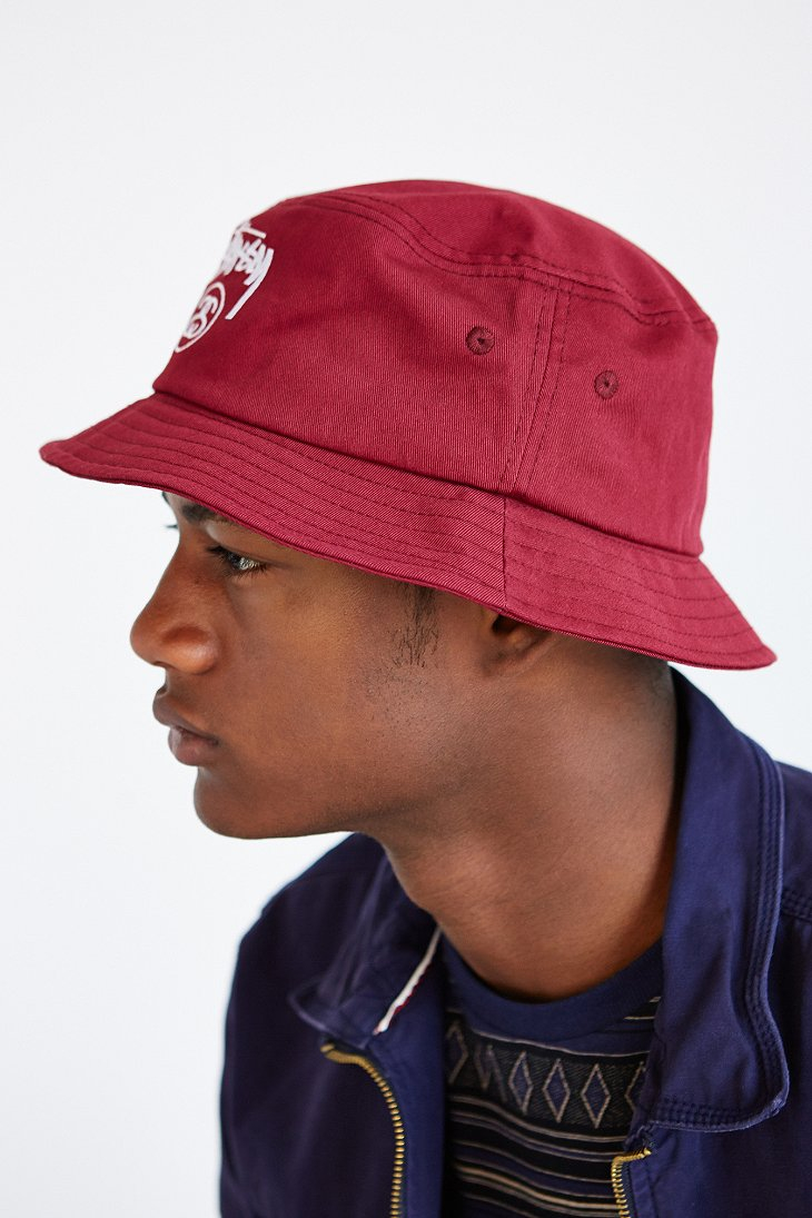 a524732cd1ff96 Stussy Stock Lock Bucket Hat in Red for Men - Lyst