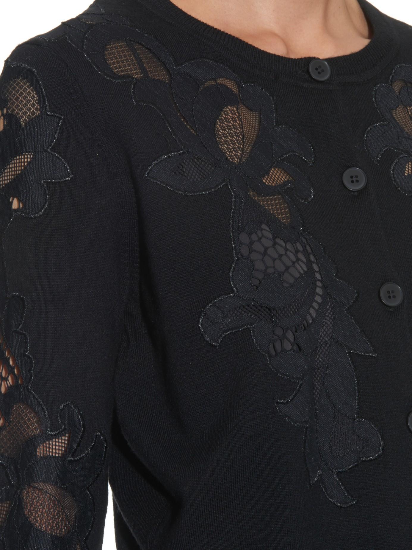Diane von furstenberg Cooper Cardigan in Black | Lyst