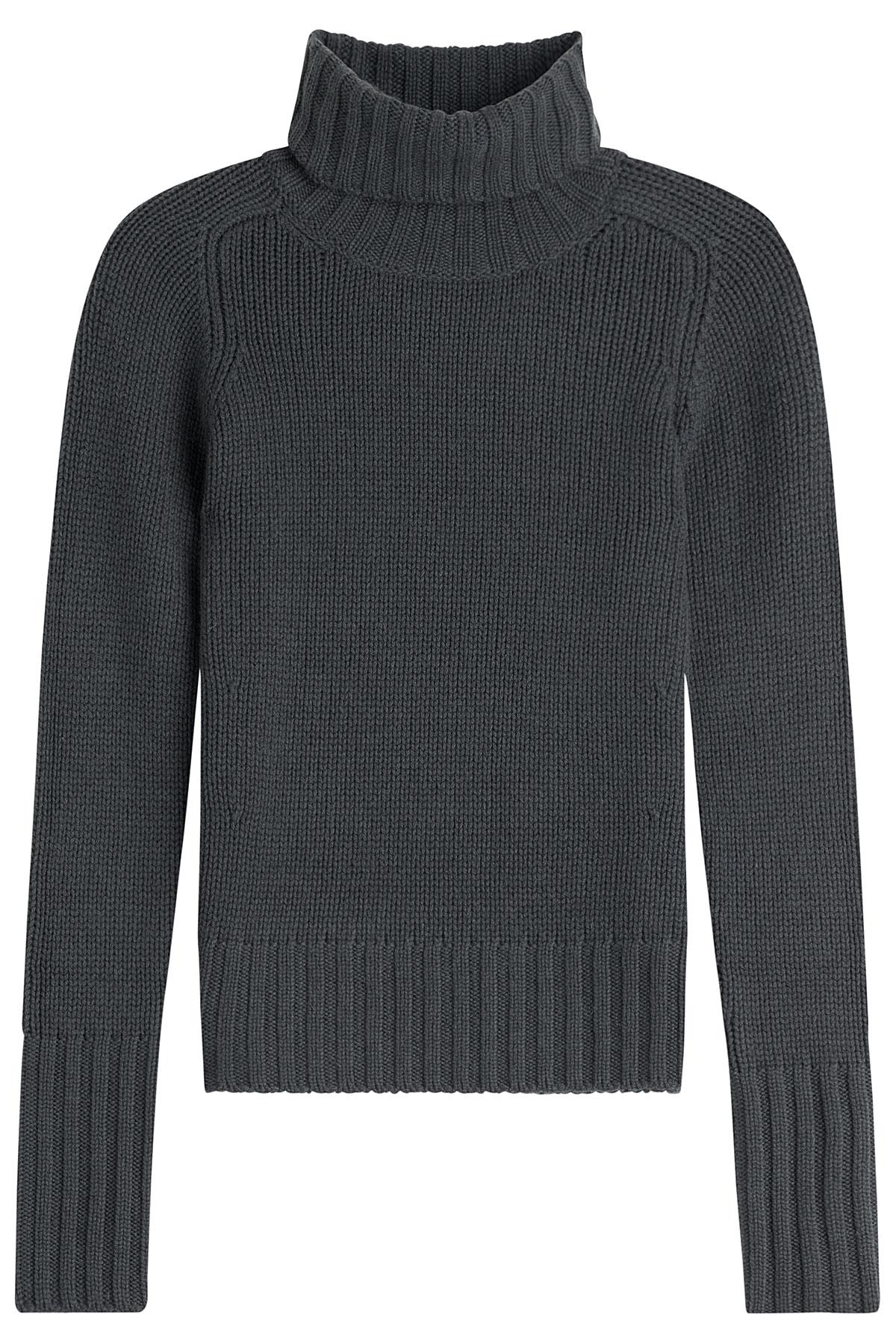 iris von arnim cashmere turtleneck grey in gray lyst. Black Bedroom Furniture Sets. Home Design Ideas